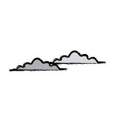 cloud climate sky day weather icon vector image vector image