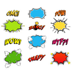comics bubbles for emotions and explosions vector image