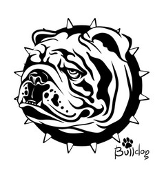 drawing of a dog of breed vector image vector image