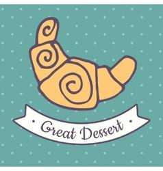 Flat croissant icon vector image