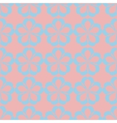 geometric seamless floral pattern pastel palette vector image vector image