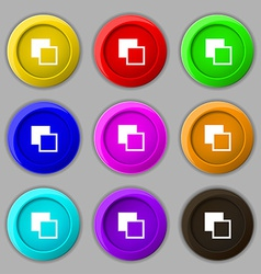 Active color toolbar icon sign symbol on nine vector image vector image