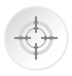 Crosshair icon flat style vector image