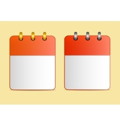 Icons of calendar red color in two variants vector image vector image