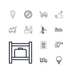 13 journey icons vector
