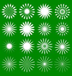 16 geometric radial elements - various radiating vector