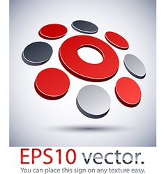 3D modern logo O icon vector