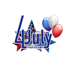 4th july independance day background vector image