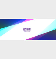 Abstract colorful geometric style banner vector