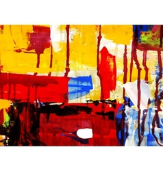 Abstract hand draw acrylic painting composition vector