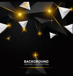 abstract shiny black triangle background 3d vector image