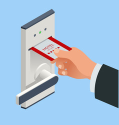 Access control and management system for hotels vector
