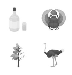 Alcohol forest and other monochrome icon in vector