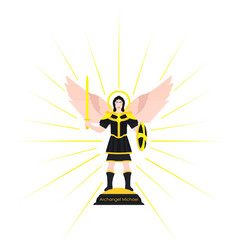 Archangel michael colored vector