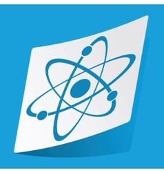 Atom sticker vector image