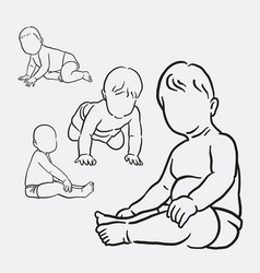 baactivity sketches style vector image