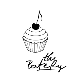 Bakery Hand drawn calligraphy lettering branding vector