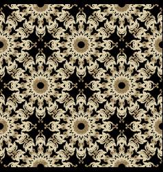 Baroque 3d seamless pattern ornamental damask vector