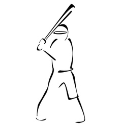 Baseball striker vector