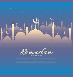 Beautiful ramadan kareem festival background vector