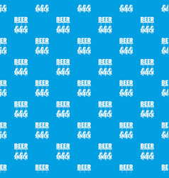 beer snack pattern seamless blue vector image