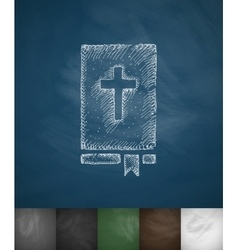 bible icon Hand drawn vector image