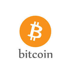 bitcoin money icon crypto-currency coin vector image
