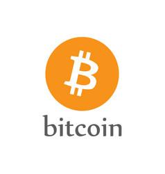 bitcoin money icon crypto-currency coin vector image