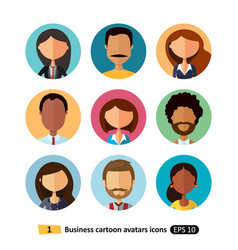 business people avatars collection flat icons vector image