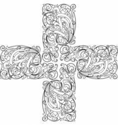 Calligraphy cross vector