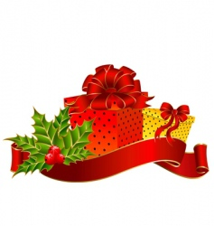 Christmas garnish vector image
