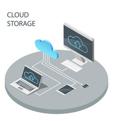 cloud computing technology cloud storage vector image