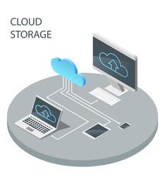 cloud computing technology cloud storage vector image