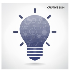 Creative light bulb and brain concept vector image