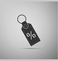 discount percent tag icon on grey background vector image
