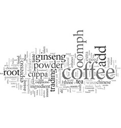 Espresso or cappucino how to add some oomph vector