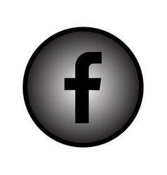 facebook black and white gradient logo vector image