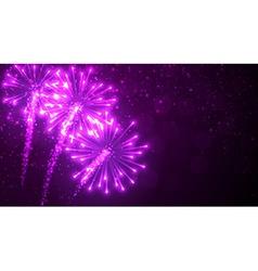 Festive lilac firework background vector