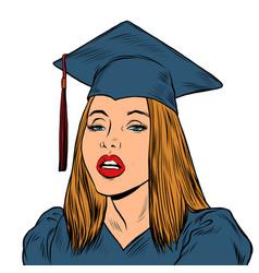 girl student university college vector image