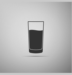 glass with water icon isolated on grey background vector image