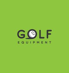 golf logo vector image