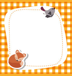 Greeting card with cute fox greeting card with vector