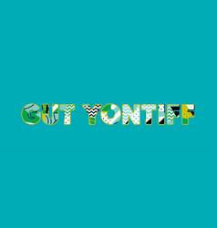Gut yontiff concept word art vector