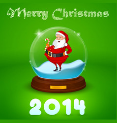 Hake with Santa Claus inside the ball vector