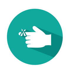 Hand with injured finger icon block style vector