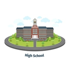 High school or university building Educational vector