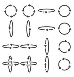 Icon circular arrows turn flip in different vector