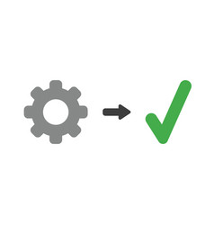 icon concept of gear with check mark vector image