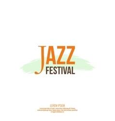 Inscription jazz festival vector