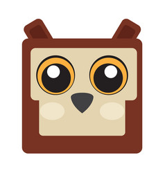 isolated owl face vector image